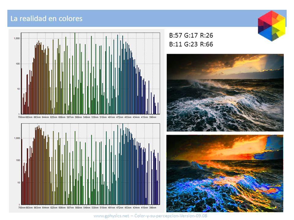 La realidad en colores B:57 G:17 R:26 B:11 G:23 R:66 www.gphysics.net – Color-y-su-percepcion-Version-09.08
