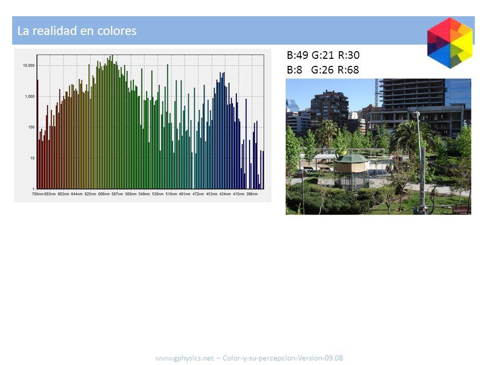 La realidad en colores B:49 G:21 R:30 B:8 G:26 R:68 www.gphysics.net – Color-y-su-percepcion-Version-09.08