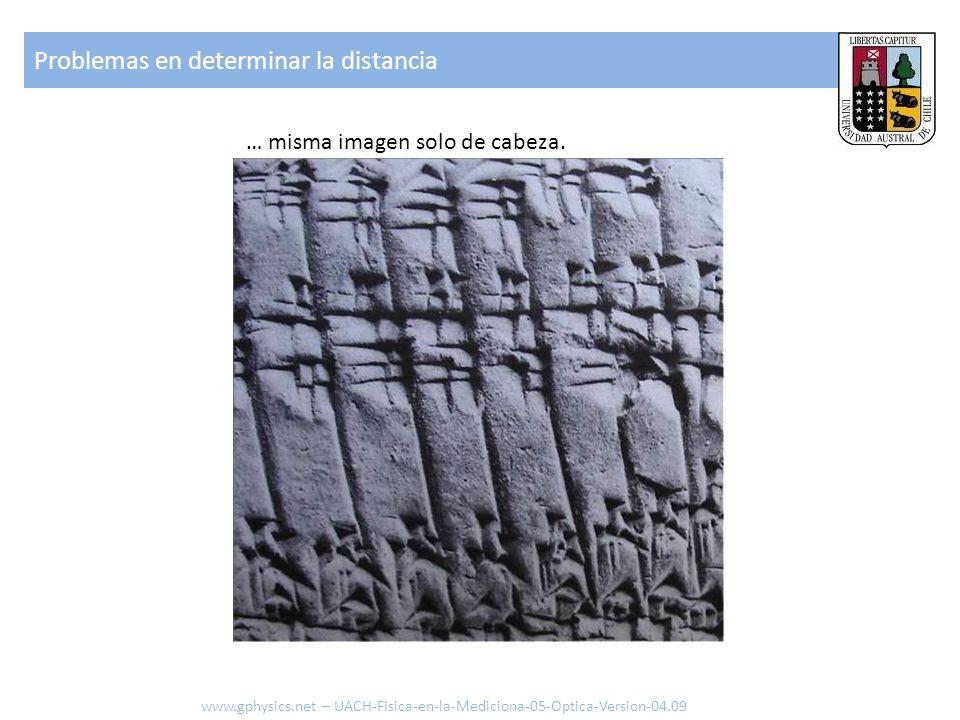 … misma imagen solo de cabeza. Problemas en determinar la distancia www.gphysics.net – UACH-Fisica-en-la-Mediciona-05-Optica-Version-04.09