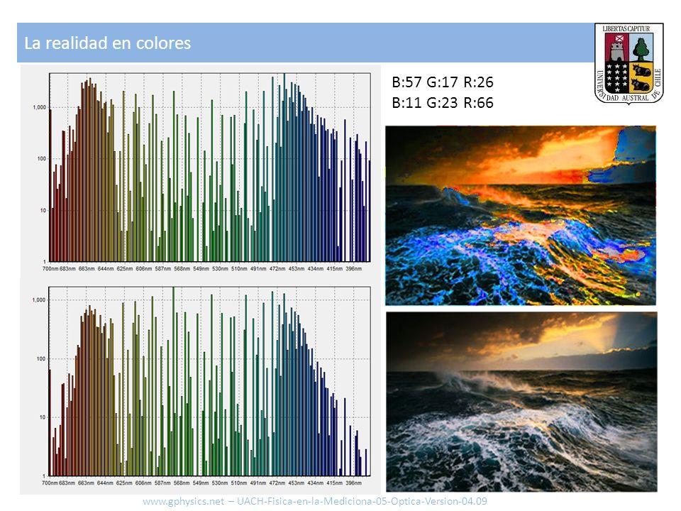 La realidad en colores B:57 G:17 R:26 B:11 G:23 R:66 www.gphysics.net – UACH-Fisica-en-la-Mediciona-05-Optica-Version-04.09