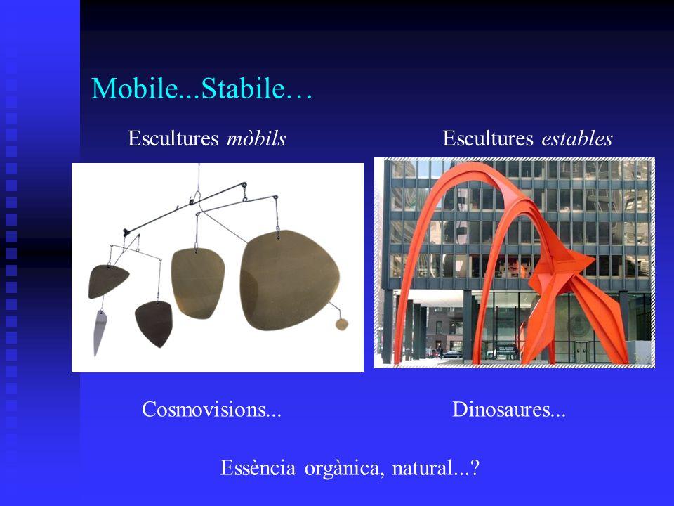 Mobile...Stabile… Cosmovisions...Dinosaures... Essència orgànica, natural...? Escultures mòbilsEscultures estables