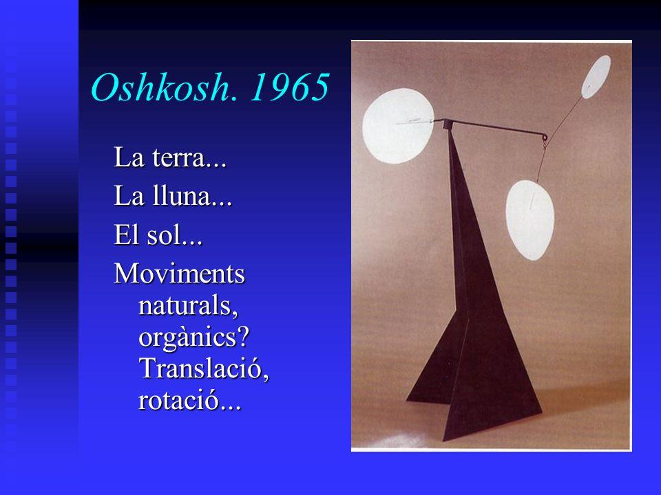 Oshkosh. 1965 La terra... La lluna... El sol... Moviments naturals, orgànics? Translació, rotació...