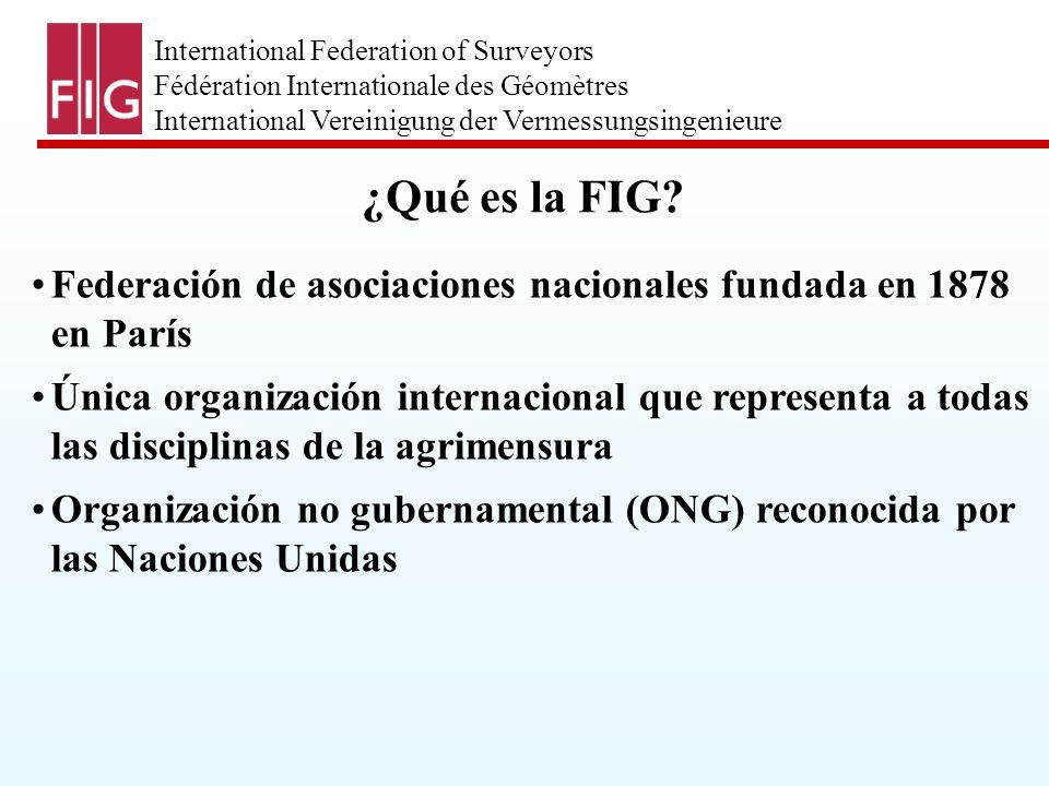 International Federation of Surveyors Fédération Internationale des Géomètres International Vereinigung der Vermessungsingenieure ¿Quiénes son agrimensores.