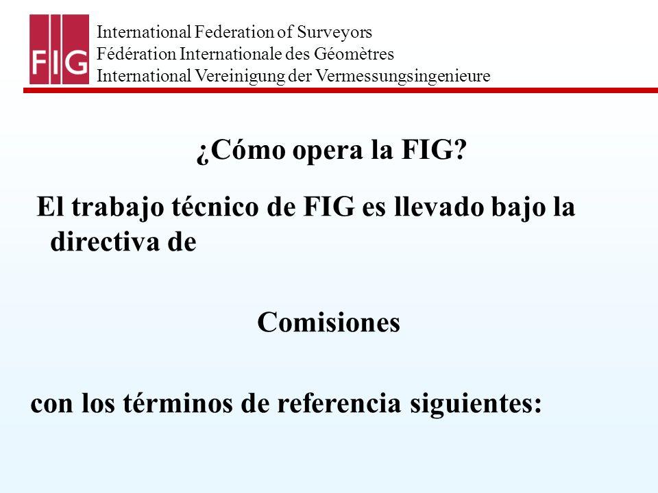 International Federation of Surveyors Fédération Internationale des Géomètres International Vereinigung der Vermessungsingenieure 1.
