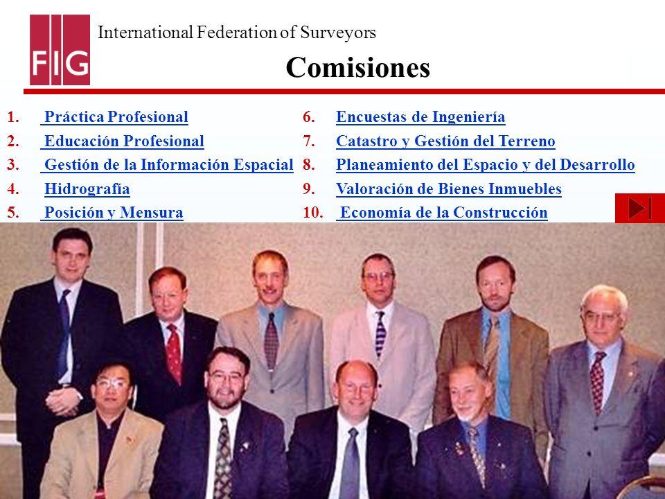 International Federation of Surveyors Fédération Internationale des Géomètres International Vereinigung der Vermessungsingenieure Base de Datos de Enseñanza de la Agrimensura