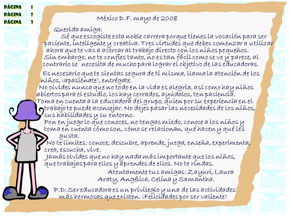 PÁGINA 1 PÁGINA 2 PÁGINA 3 PÁGINA 1 PÁGINA 2 PÁGINA 3 México D.F.