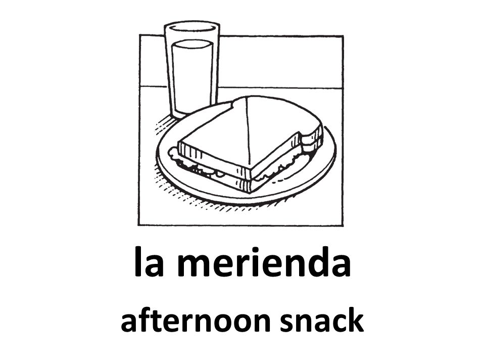 la merienda afternoon snack