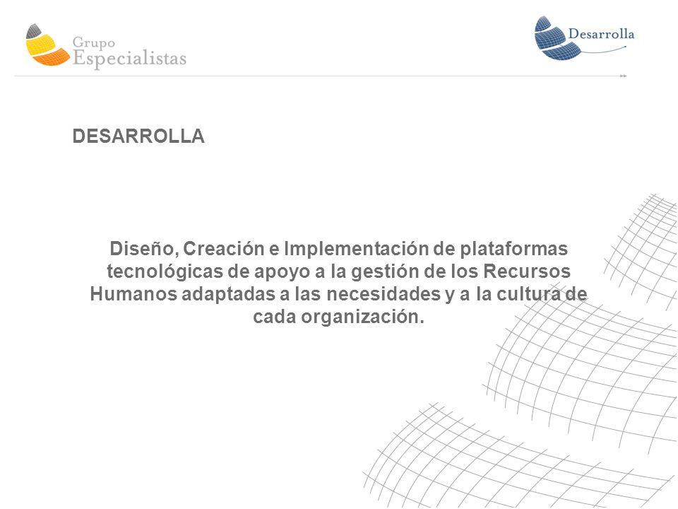 Diseño, Creación e Implementación de plataformas tecnológicas de apoyo a la gestión de los Recursos Humanos adaptadas a las necesidades y a la cultura de cada organización.