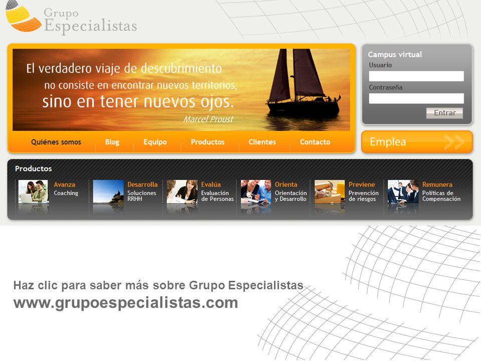Haz clic para saber más sobre Grupo Especialistas www.grupoespecialistas.com