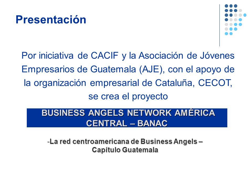 Presentación Por iniciativa de CACIF y la Asociación de Jóvenes Empresarios de Guatemala (AJE), con el apoyo de la organización empresarial de Cataluñ