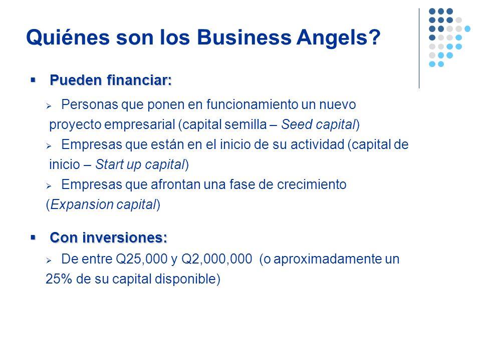 Personas que ponen en funcionamiento un nuevo proyecto empresarial (capital semilla – Seed capital) Empresas que están en el inicio de su actividad (c