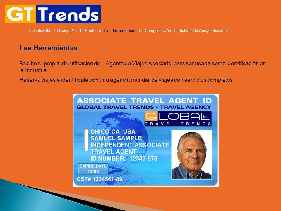 Las Herramientas Recibe tu propia Identificación de Agente de Viajes Asociado, para ser usada como Identificación en la Industria Reserva viajes e ide