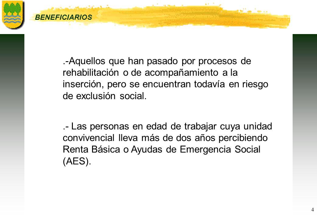 4.-Aquellos que han pasado por procesos de rehabilitación o de acompañamiento a la inserción, pero se encuentran todavía en riesgo de exclusión social.