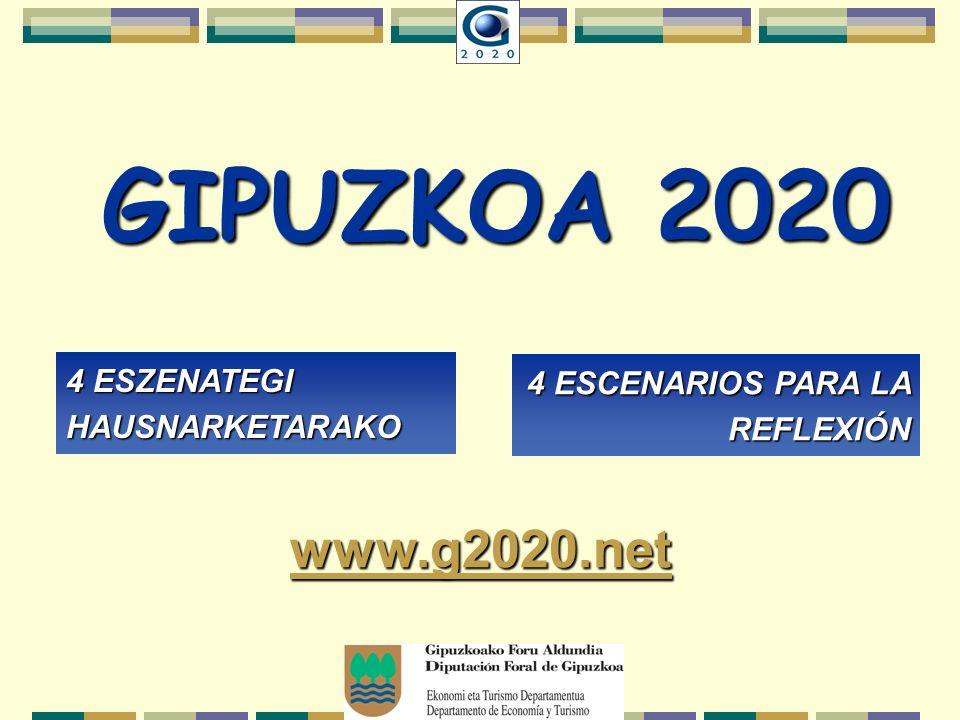 GIPUZKOA 2020 4 ESZENATEGI HAUSNARKETARAKO 4 ESCENARIOS PARA LA REFLEXIÓN www.g2020.net