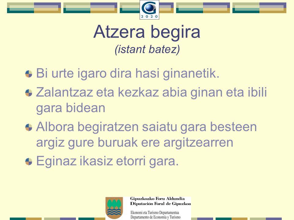 Atzera begira (istant batez) Bi urte igaro dira hasi ginanetik.