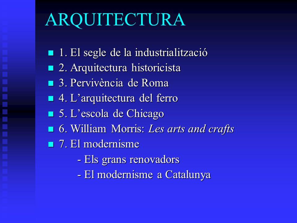 ARQUITECTURA 1. El segle de la industrialització 1.