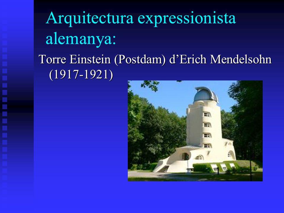 Arquitectura expressionista alemanya: Torre Einstein (Postdam) dErich Mendelsohn (1917-1921)