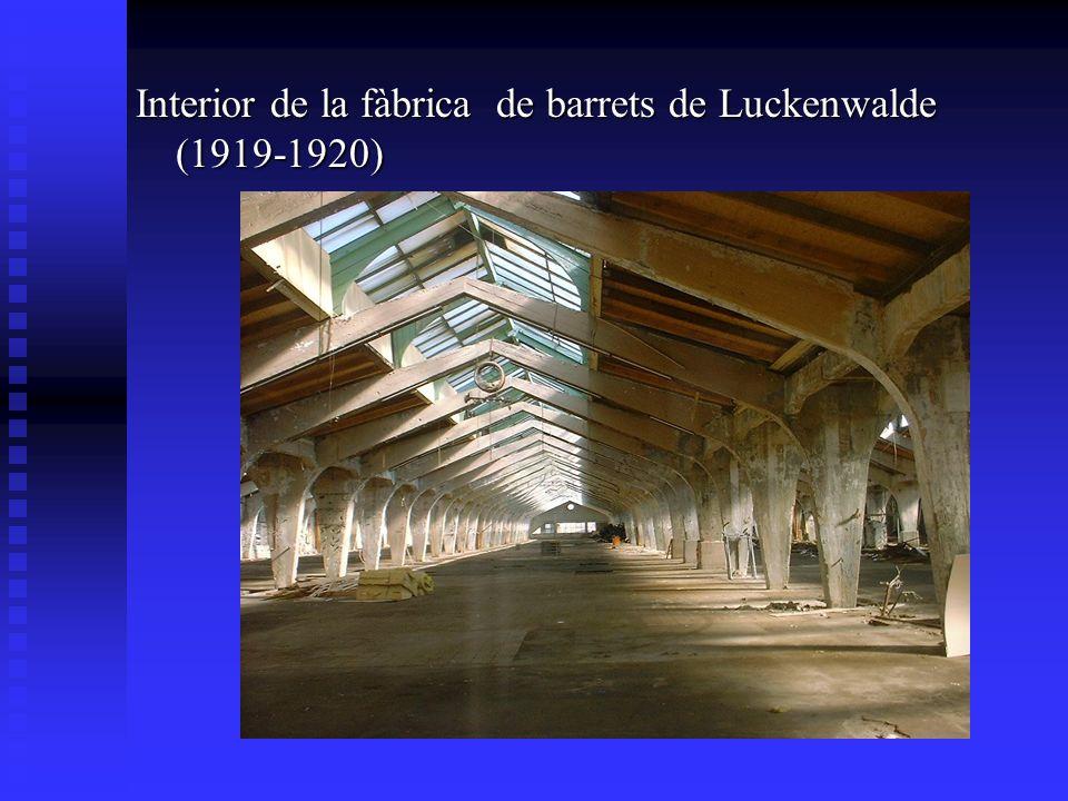 Interior de la fàbrica de barrets de Luckenwalde (1919-1920)