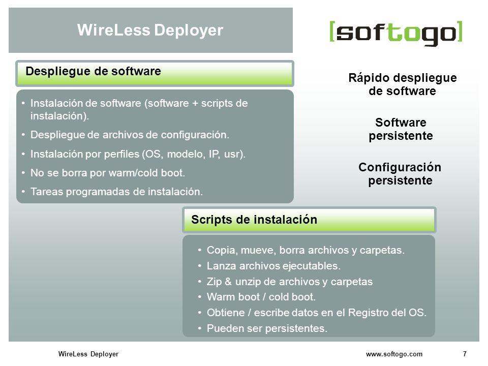 8WireLess Deployer www.softogo.com WireLess Deployer Acceso FTP en-línea.