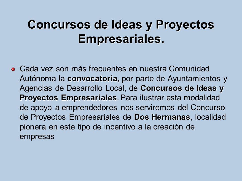Concursos de Ideas y Proyectos Empresariales. convocatoria, Concursos de Ideas y Proyectos Empresariales Dos Hermanas Cada vez son más frecuentes en n