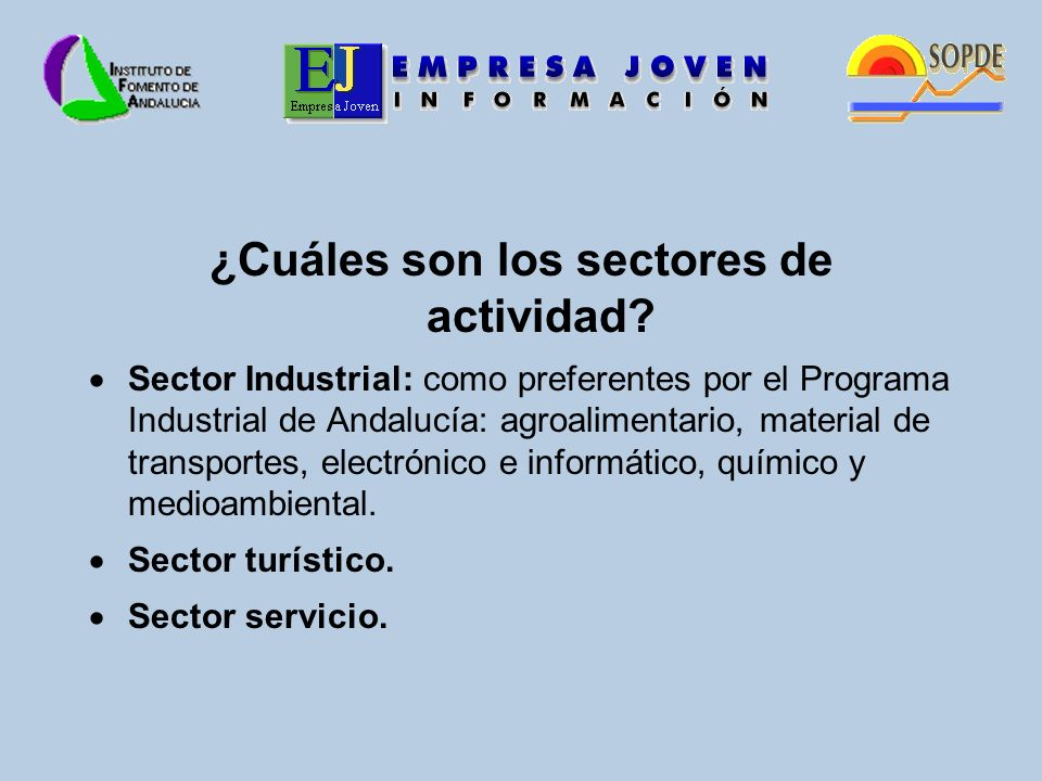 ¿Cuáles son los sectores de actividad.