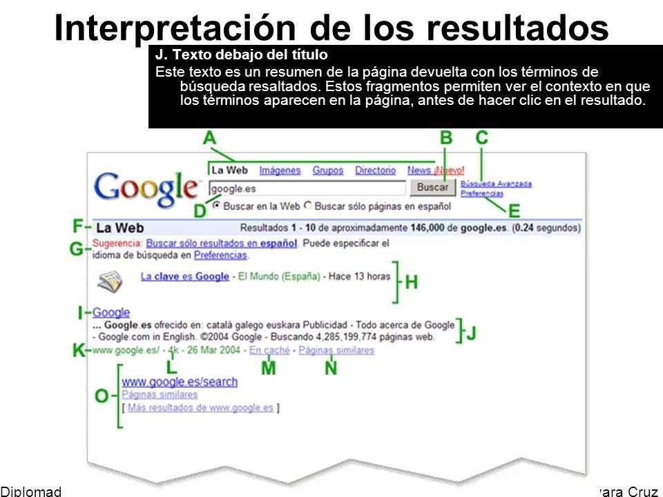 Mtro. Horacio Guevara Cruz Diplomado Tic y Educación Interpretación de los resultados J. Texto debajo del título Este texto es un resumen de la página
