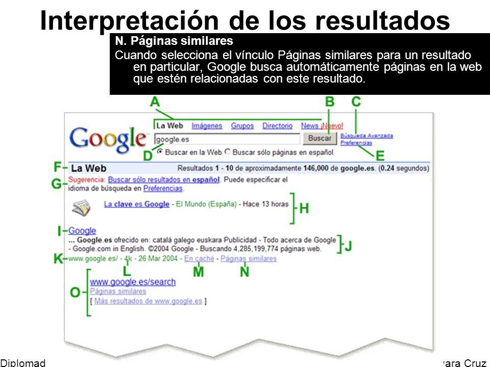 Mtro. Horacio Guevara Cruz Diplomado Tic y Educación Interpretación de los resultados N. Páginas similares Cuando selecciona el vínculo Páginas simila