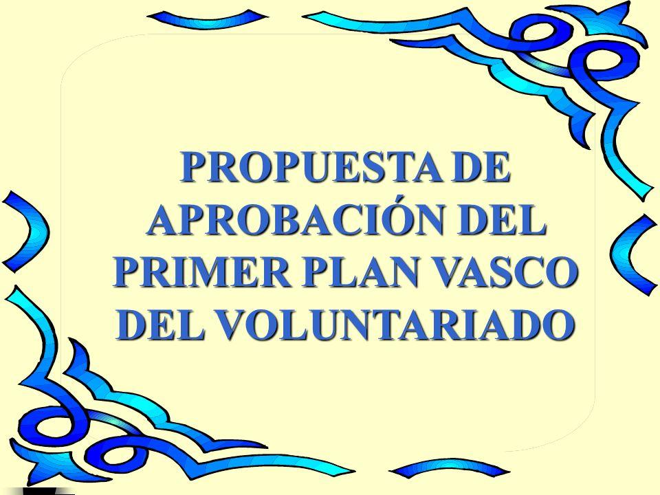 1 PROPUESTA DE APROBACIÓN DEL PRIMER PLAN VASCO DEL VOLUNTARIADO