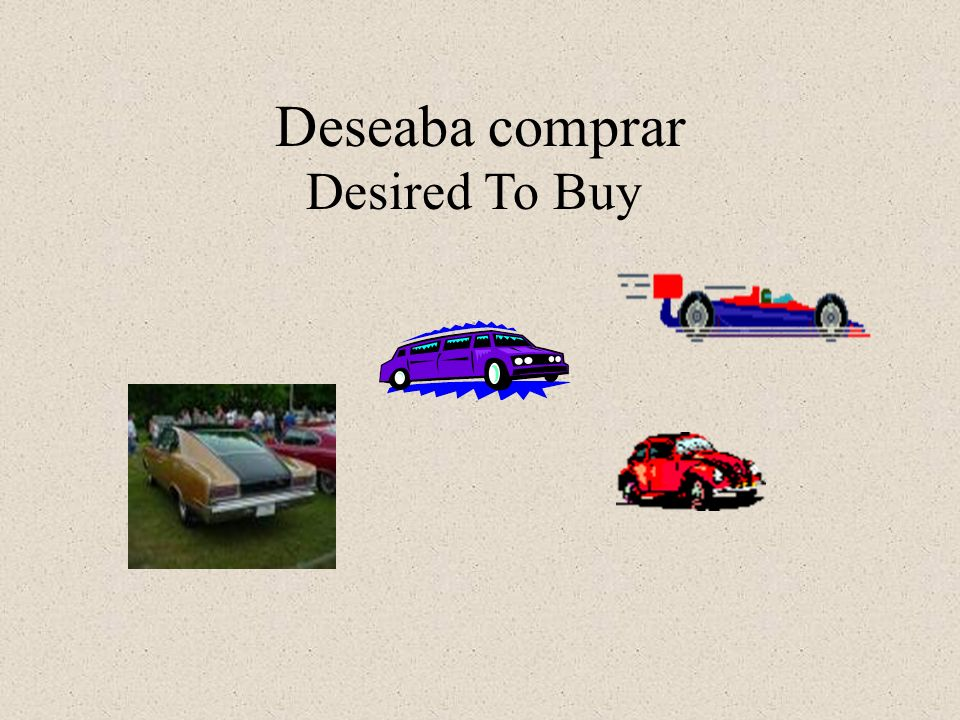 Deseaba comprar Desired To Buy