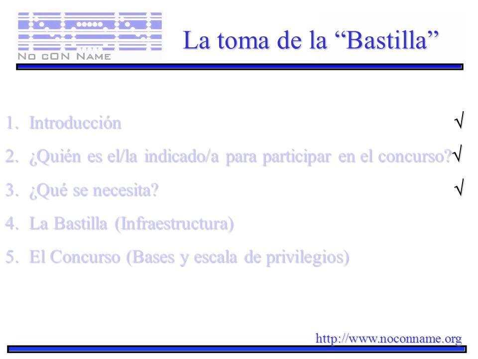 http://www.noconname.org La toma de la Bastilla 1.Introducción 1.Introducción 2.¿Quién es el/la indicado/a para participar en el concurso? 2.¿Quién es