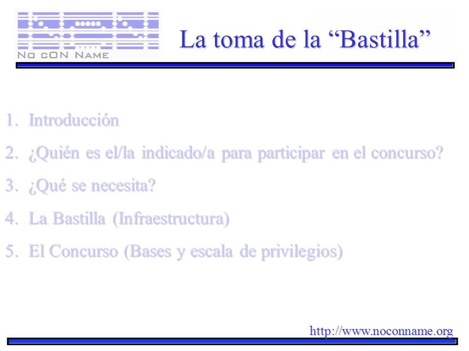 La toma de la Bastilla 1.Introducción 2.¿Quién es el/la indicado/a para participar en el concurso? 3.¿Qué se necesita? 4.La Bastilla (Infraestructura)