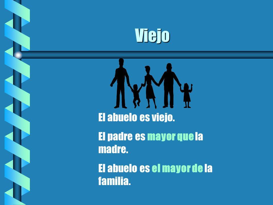 Joven Los hijos son jóvenes. La madre es menor que el padre. El hijo es el menor de todos.