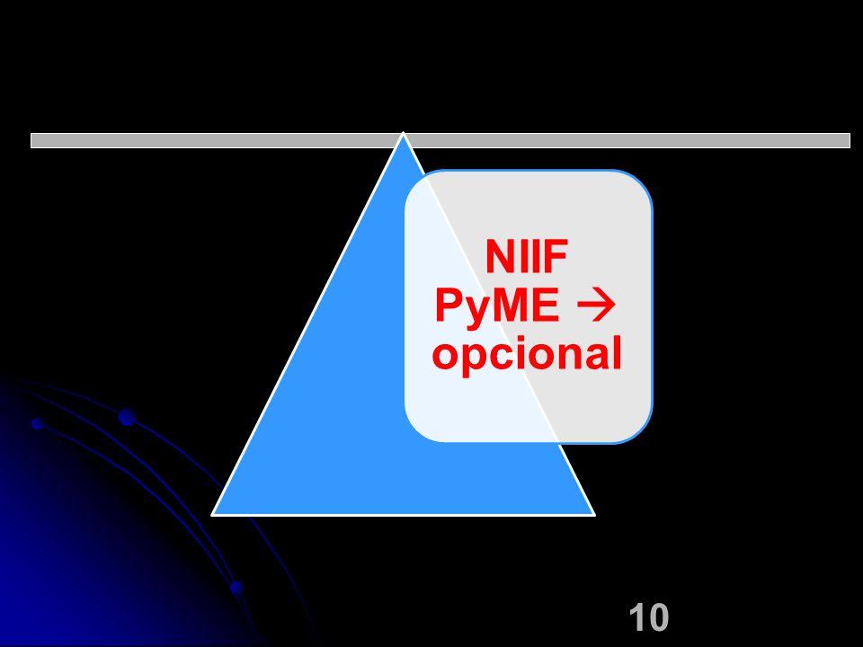 10 NIIF PyME opcional