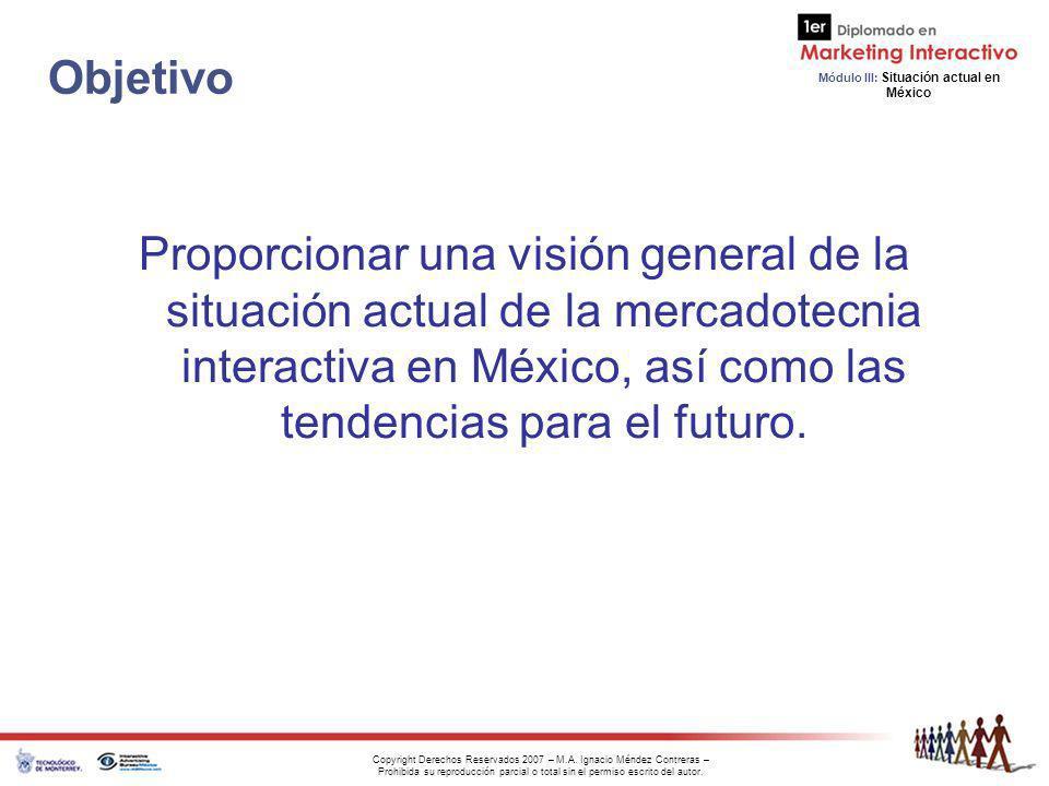 Módulo III: Situación actual en México Copyright Derechos Reservados 2007 – M.A.