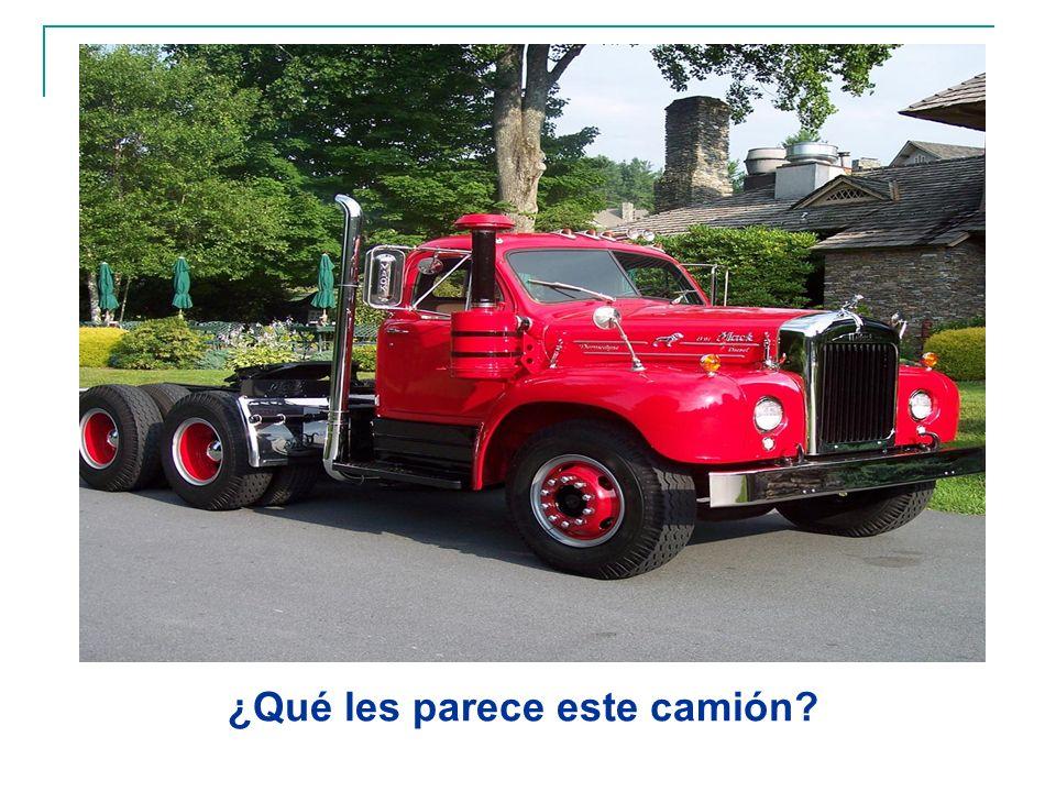 ¿Qué les parece este camión?