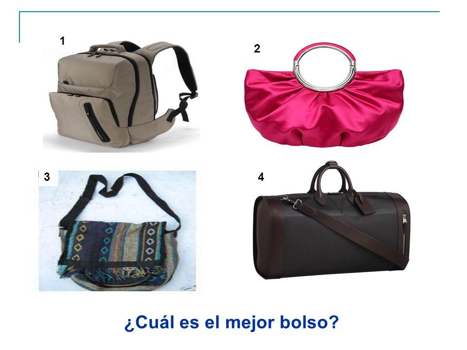 ¿Cuál es el mejor bolso? 1 2 34