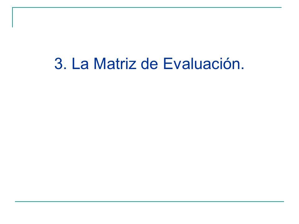 3. La Matriz de Evaluación.