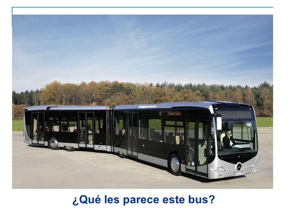 ¿Qué les parece este bus?