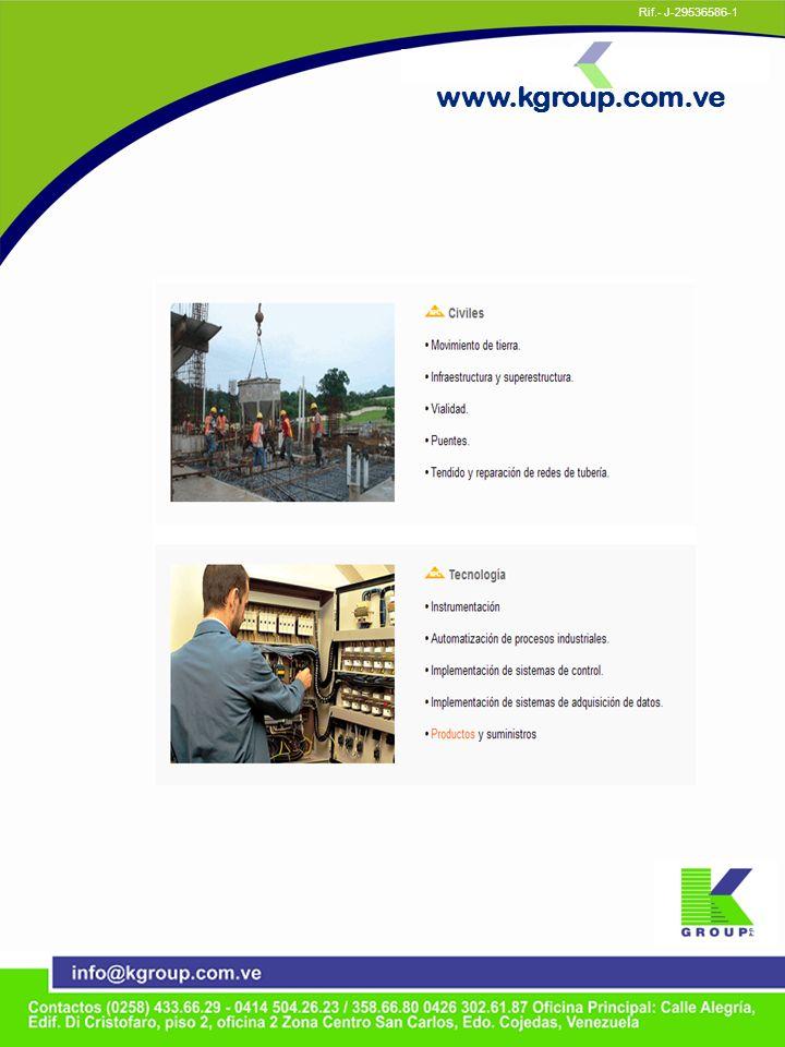 www.kgroup.com.ve Rif.- J-29536586-1