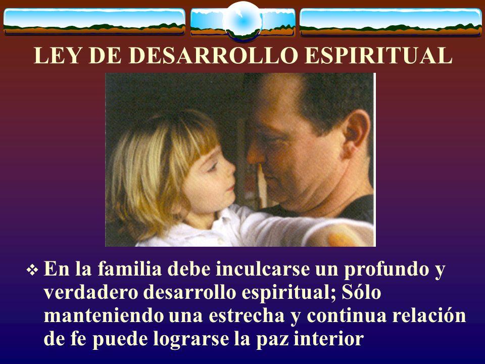 LEY DE LAS NORMAS DE DISCIPLINA Las normas de disciplina delimitan la única área confiable sobre la que puede edificarse la torre del éxito familiar y