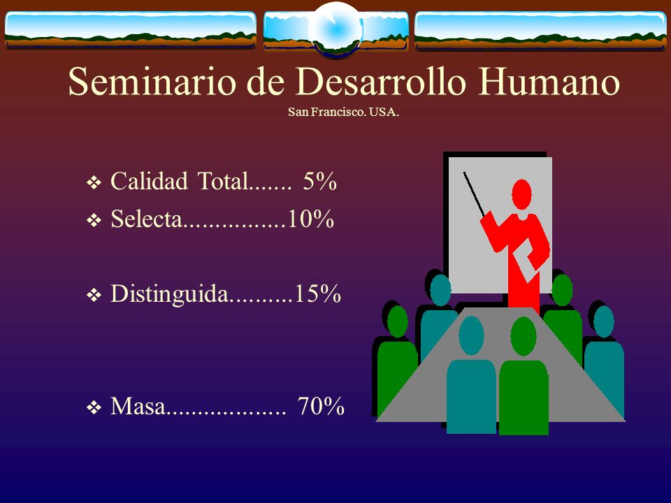 Seminario de Desarrollo Humano San Francisco.USA.