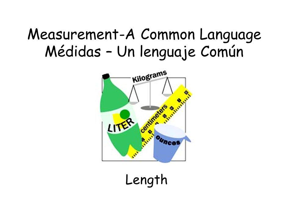 Measurement-A Common Language Médidas – Un lenguaje Común Length