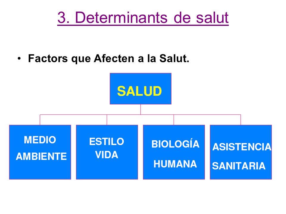 3. Determinants de salut Factors que Afecten a la Salut.