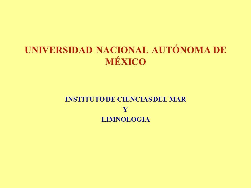 UNIVERSIDAD NACIONAL AUTÓNOMA DE MÉXICO INSTITUTO DE CIENCIAS DEL MAR Y LIMNOLOGIA