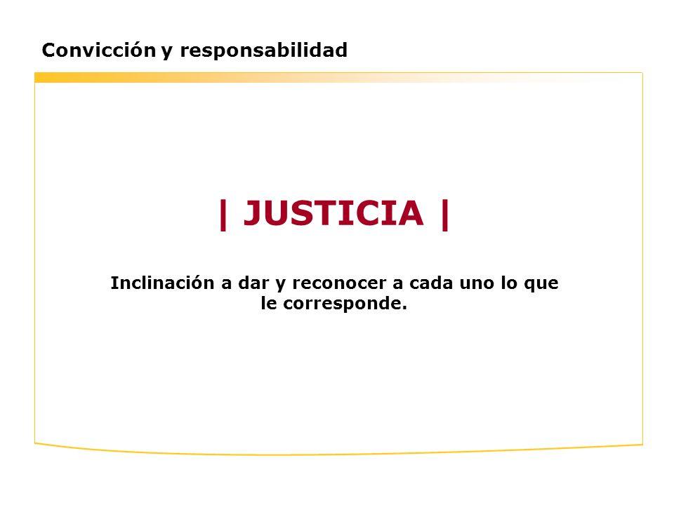 | JUSTICIA | Inclinación a dar y reconocer a cada uno lo que le corresponde.