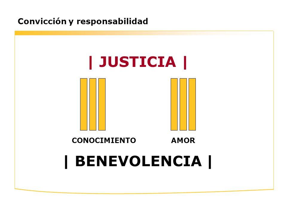 Convicción y responsabilidad | JUSTICIA | CONOCIMIENTOAMOR | BENEVOLENCIA |