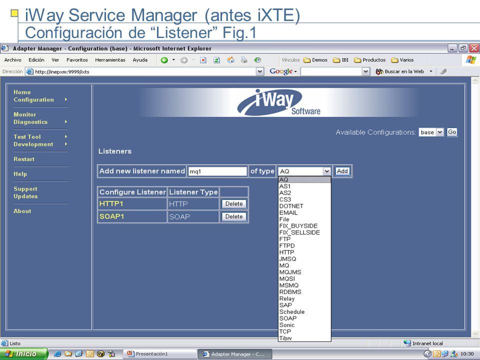 5 iWay Service Manager (antes iXTE) Configuración de Listener Fig.1