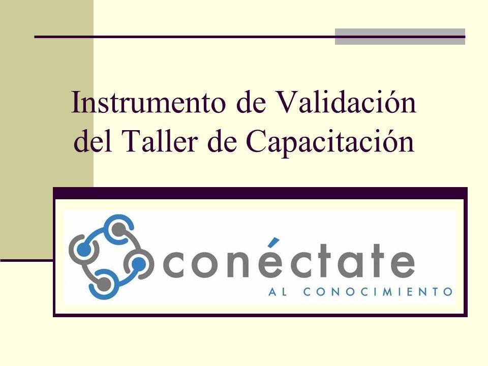 Instrumento de Validación del Taller de Capacitación