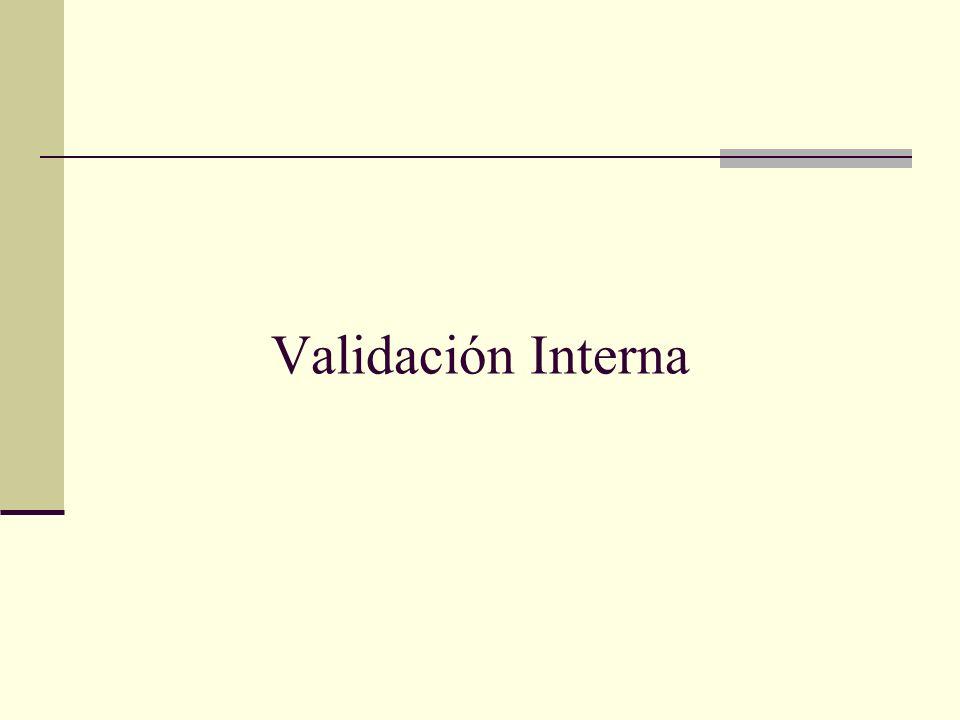 Validación Interna