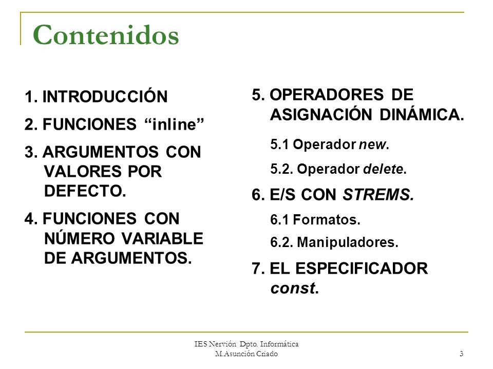 IES Nervión Dpto.Informática M.Asunción Criado 3 1.
